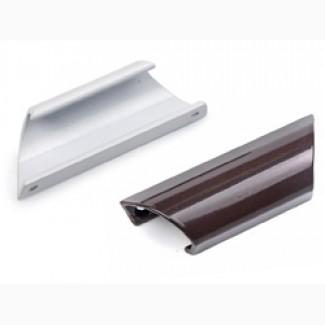 Ручка на балконную дверь, алюминиевая, белая/коричневая