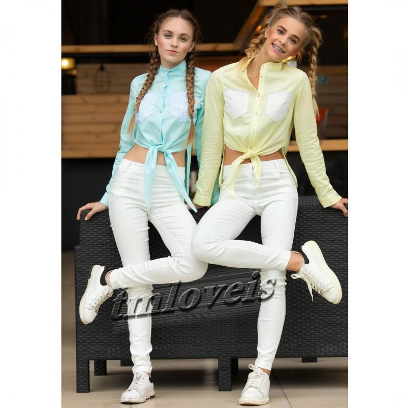 Фото 2. Ультрамодные топовые блузка и рубашка для девочки. 7-16лет. Блузочка