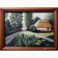 Авторская картина маслом Украинский пейзаж