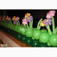 Оформление шарами, гирлянды, сердца, арки из шаров, шары с гелием