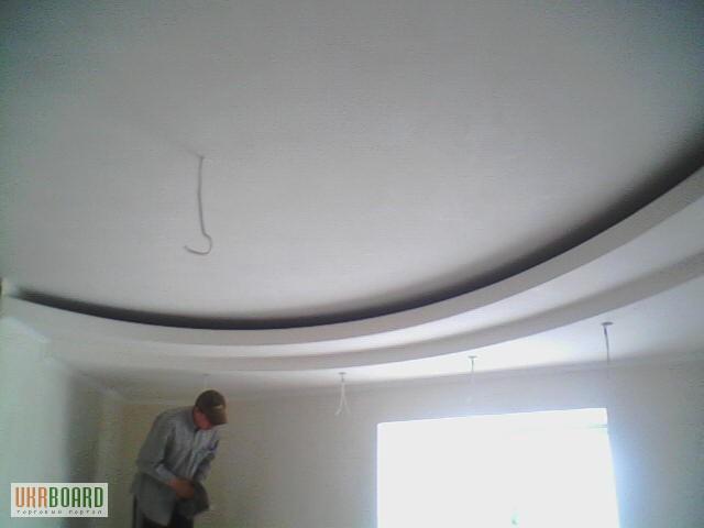 Фигурный потолок с гипсокартона своими руками