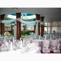 Оформление залов для вечеринок, свадебное оформление залов, декор, прокат чехлов на стулья