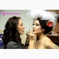 Свадебная и вечерняя прическа, макияж
