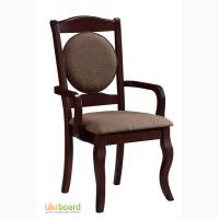Мягкий стул с подлокотниками, натуральное дерево