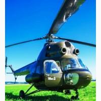 Підживлення озимого ріпаку та озимої пшениці вертольотом