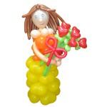 Фигуры из шаров, Клоун, Машинка из воздушных шариков Киев