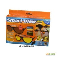 Купить.Набор Smart View Elite - водительские антибликовые очки (2 пары для дня и ночи)