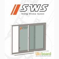 Остекление балконов, раздвижные рамы SWS