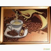 Чашечка кави вишита бісером