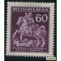 Почтовая марка. Deutsches Reich. Bohmen und Mahren. 1943г. SC 115