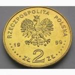 Польша 2 злотых 1999 год UNC!!! ОТЛИЧНОЕ Состояние!!! РЕДКАЯ