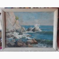 Продам советскую живопись, картина Прибой, Федор Захаров