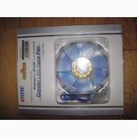 Вентилятор для охлаждения корпуса ПК с LED подсветкой, голубой