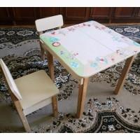 Стол парта детская + 2 стула ДСП/Бук унисекс