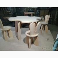 Комплект детской мебели «Зайчик» деревянный
