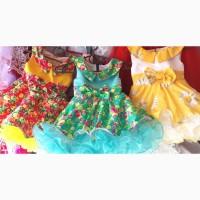 Нарядные платья для девочек, возраст год - полтора