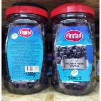 Маслины вяленые Fimtad 1200g Турция Турецкие оливки вяленые черные с косточкой