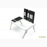 Розкладний столик підставка для ноутбука з охолодженням E-Table (Е-Тейбл)
