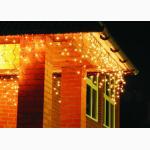 Led гирлянды, гирлянда световая бахрома, светодиодное новогоднее украшение