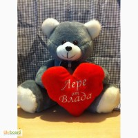Мишка плюшевый фирменный+сердечко в подарок