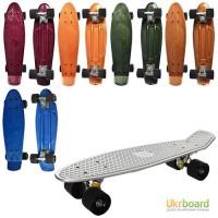 Скейт MS 0297 пенни, 55-14, 5см, алюм.подвеска, колесаПУ, подшABEC-7, металлик, 6цветов