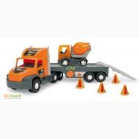 Машина Super Truck, с бетономешалкой, в кор.27 82 20 см, Тм Wader 36750