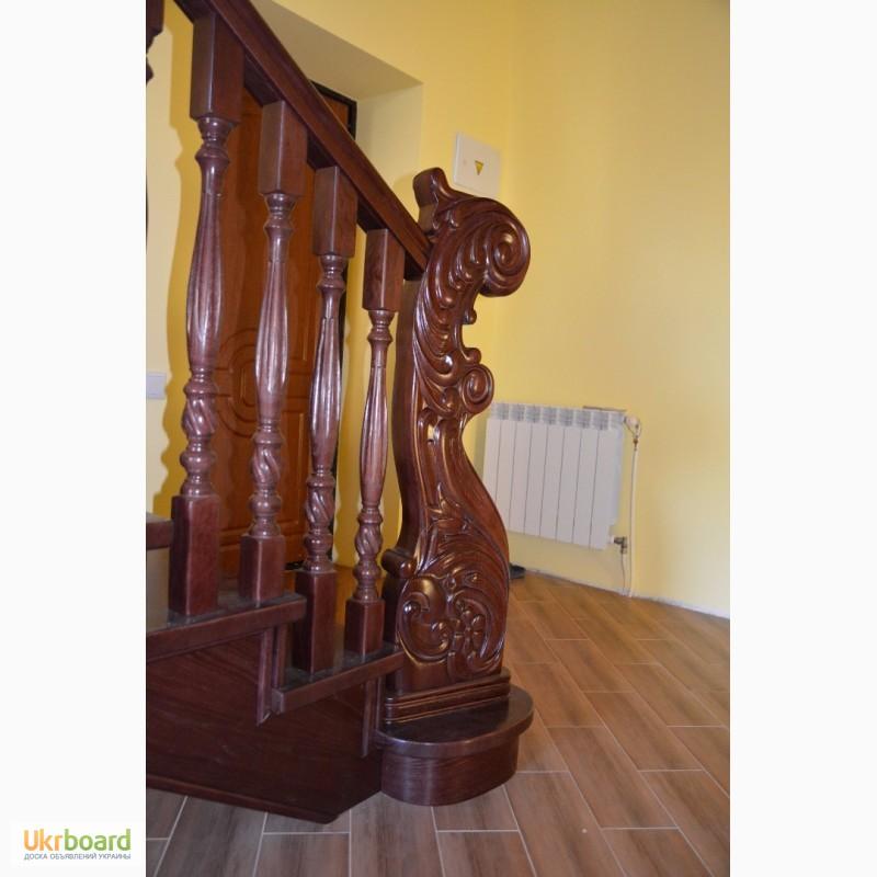 Лестницы из дуба, ступени из дуба, балясины из дуба, бука