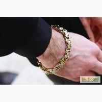 Стильный стальной браслет для мужчин