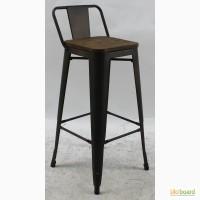 Высокий барный стул Толикс Низкий Вуд, H-76см. (Tolix Low Wood, H-76cm.) из металла купить