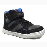 Демисезонные ботинки для мальчиков BIKI арт.A-B2108-B black c 27-32 р