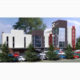 Торгово-офисные помещения в новом бизнес центре на левом берегу