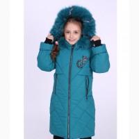 Зимнее тёплое пальто Катарина для девочек 6-10 лет в шести цветах, опт и розница
