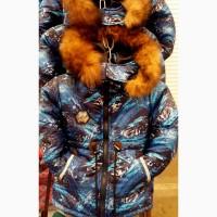 Детская зимняя куртка - парка для мальчиков 3-6 лет