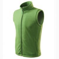 Мужской флисовый жилет, зеленый