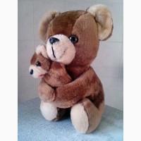 Мягкая игрушка медведица с медвежонком (Корея)