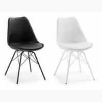 Пластикові стільці стілець Тау білий чорний