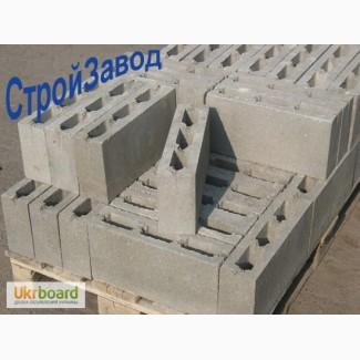 Шлакоблок перегородочный 90х190х390 мм, Киев