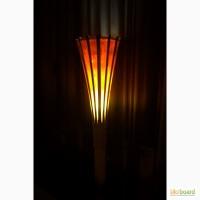 Бамбуковый напольный торшер светильник