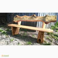 Скамейка из дерева ручной работы