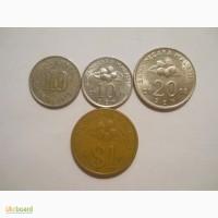 Монеты Малайзии (4 штуки)