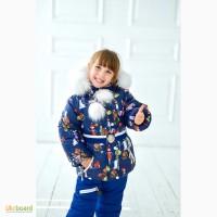 Детский зимний комбинезон для девочки от 1 до 6 лет