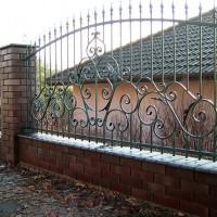 Решетка заборная кованная, металлический забор