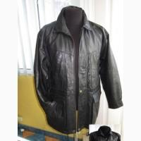 Мужская оригинальная утеплённая кожаная куртка. 52р Лот 67