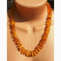Красивое янтарное ожерелье, бусы из натурального янтаря