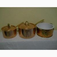 Кастрюли - медь/сталь/латунь и керамическая запеканка