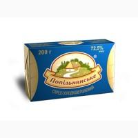 Спред сладкосливочный Попельнянский 72, 5% пачка 200 гр