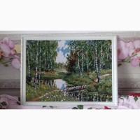 Картина вышитая бисером Берёзовая роща
