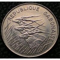 Габон 100 франков 1975 аUNC ОТЛИЧНАЯ