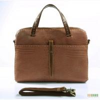 Продается модная женская деловая кожаная сумка с тиснением под рептилию