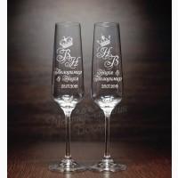 Свадебные бокалы, гравировка бокалов, подарки, бокалы для молодоженов